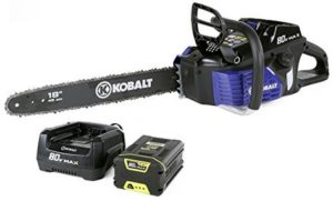 Kobalt VS Greenworks 80V Chainsaw   Battery Chainsaws Reviews